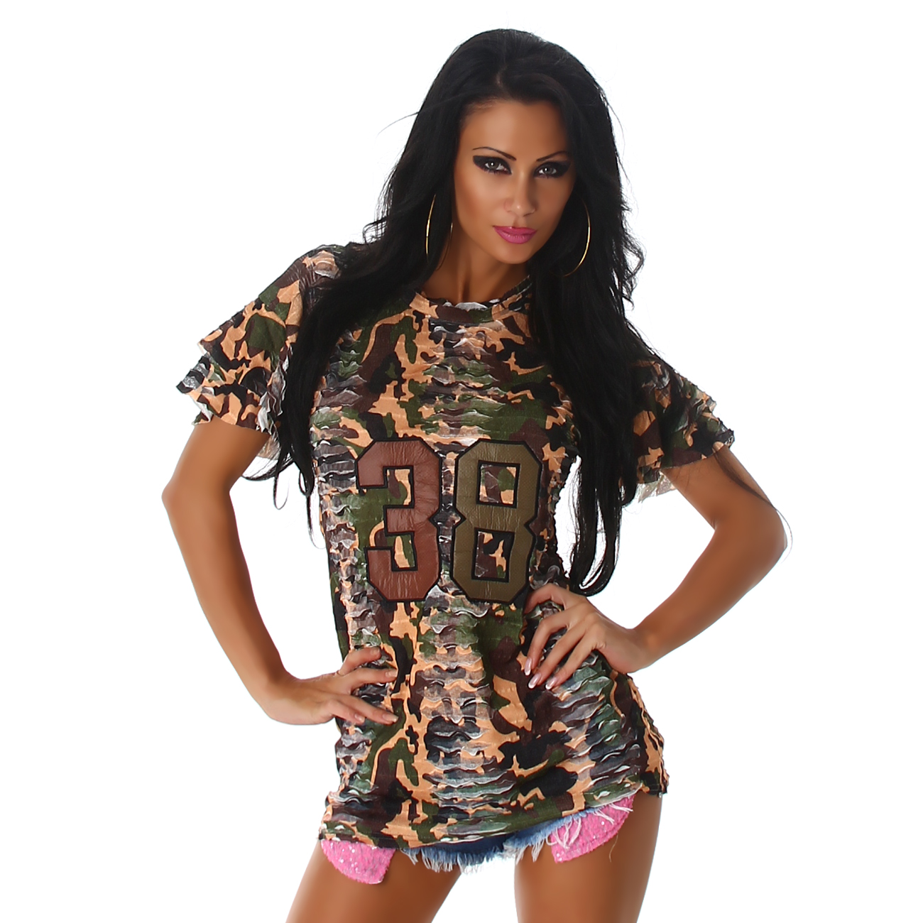1eaac0988413 Dámské tričko ARMY look