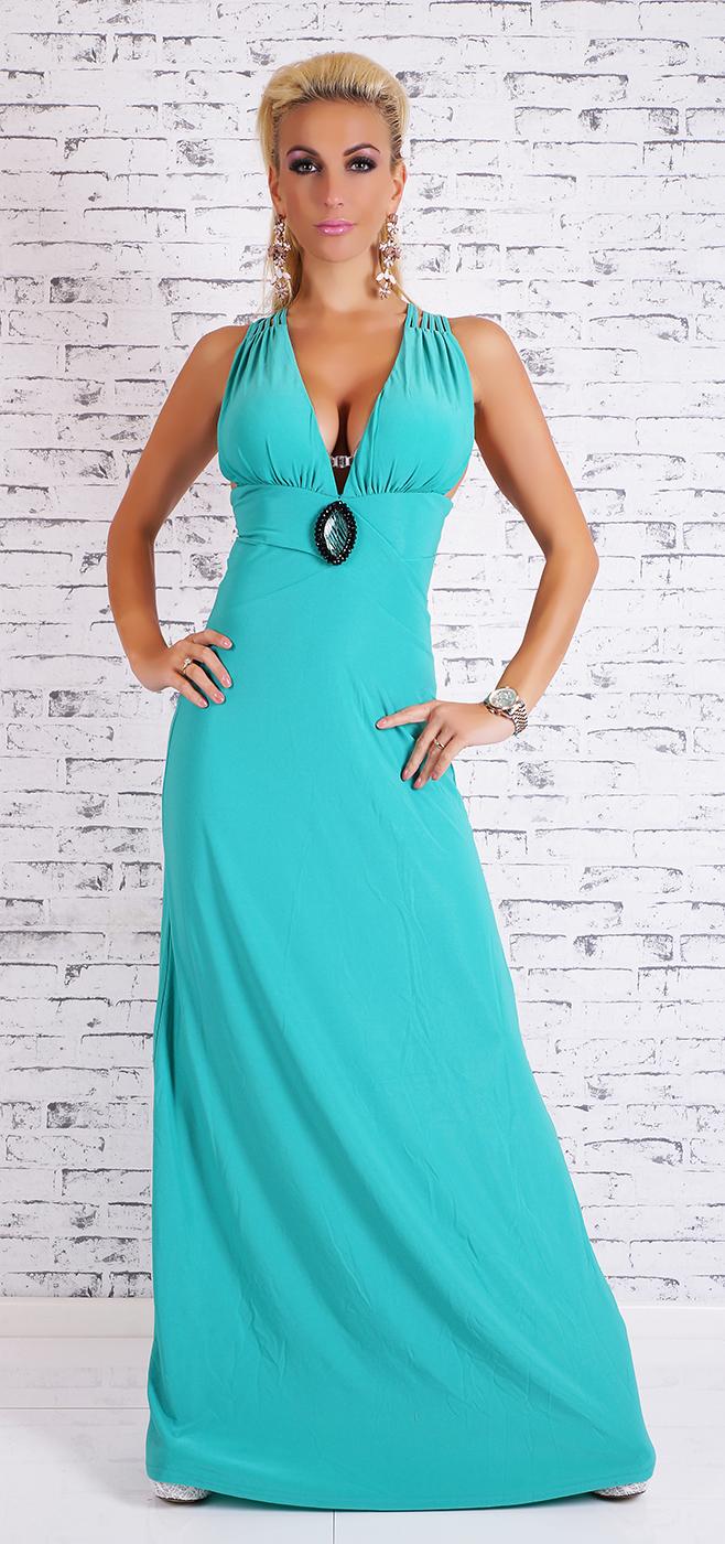 Dlouhé společenské šaty s ozdobou ff188e9fec