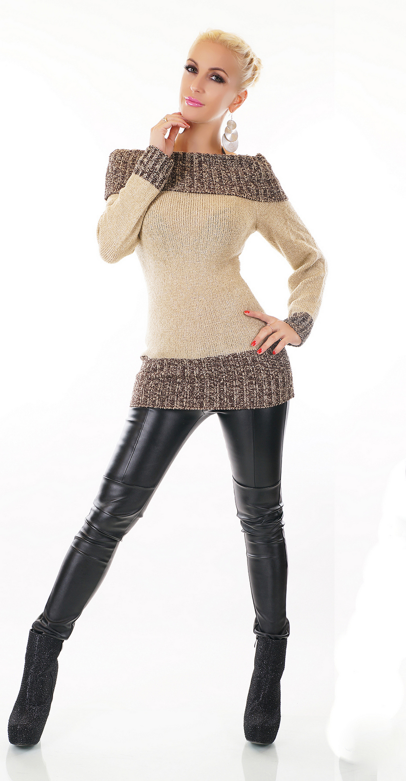 Dámský luxusní dlouhý svetr ebcac164b1
