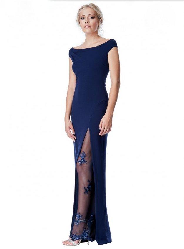 Společenské dlouhé šaty s flitry 796ea47941