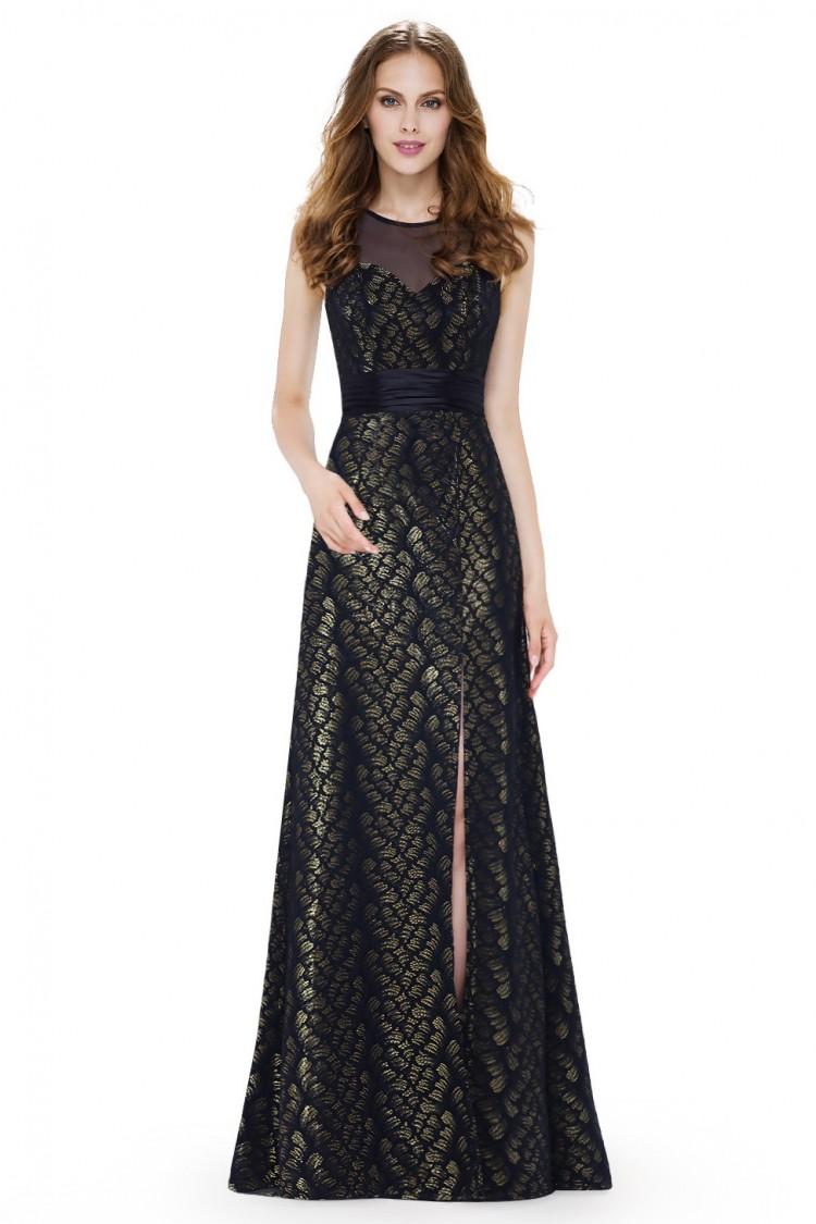 e6be1bbd87ab Večerní dlouhé šaty s rozparkem