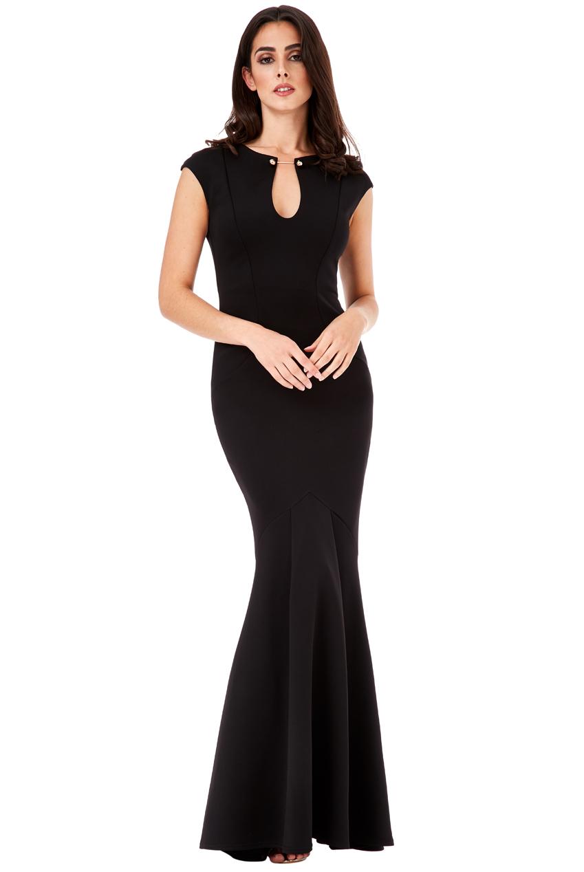 Dámské společenské dlouhé šaty s ozdobou 87660869ac