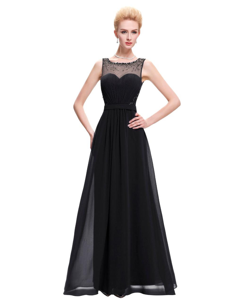 cff30c22804 Dámské dlouhé společenské šaty s korálky