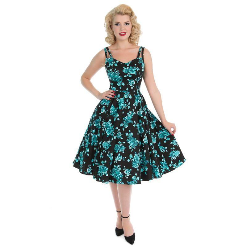 6ea75602dd80 Dámské RETRO šaty s květy