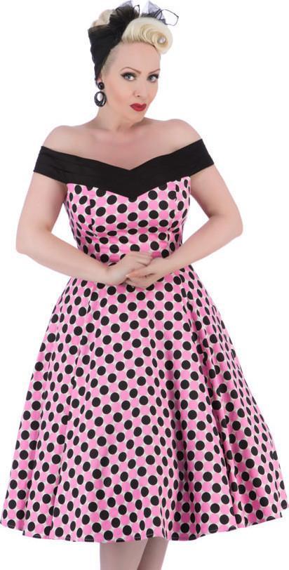 Retro šaty s puntíky 0523fb41ecd