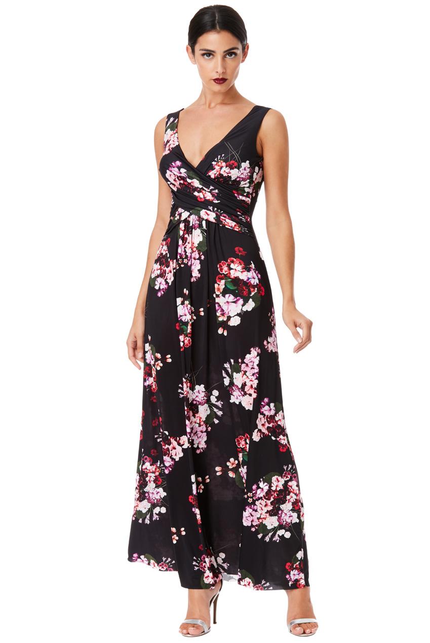 Dlouhé letní šaty s potiskem květů c35d7e115d