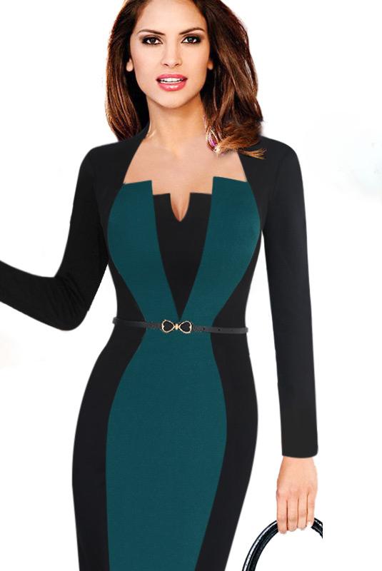 f34331ca4be Elegantní pouzdrové midi šaty