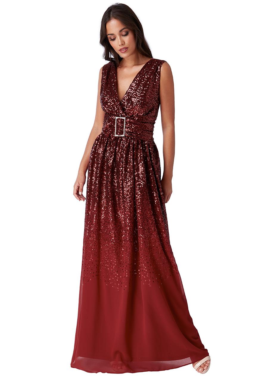 Dámské večerní dlouhé šaty s flitry 95243ebb76