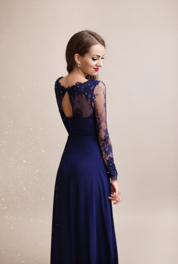 Společenské dlouhé šaty WHITNEY modrá 92bd99b65c