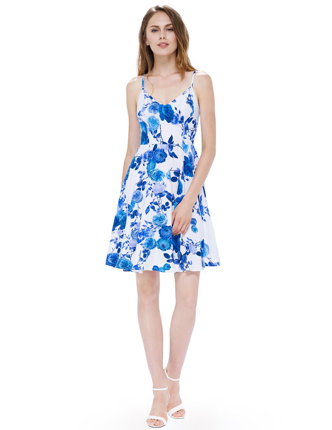 5ae331b083f1 Dámské letní krátké šaty JOLIE modrá