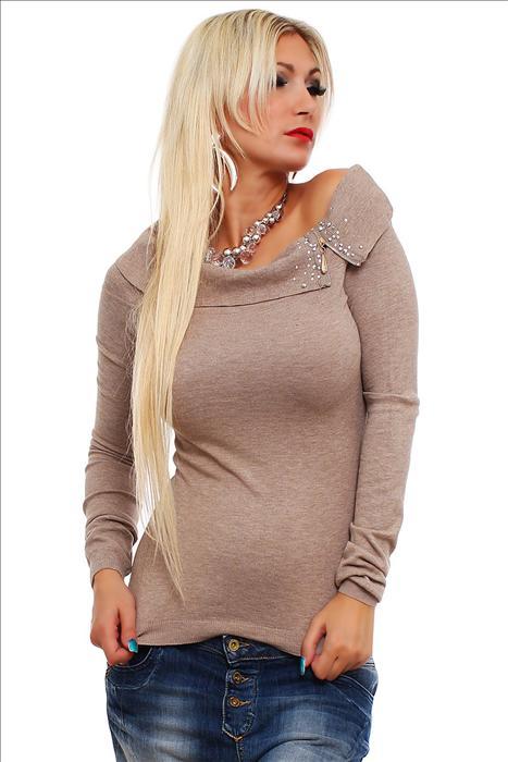 a3306138479 Dámský pulovr s kamínky