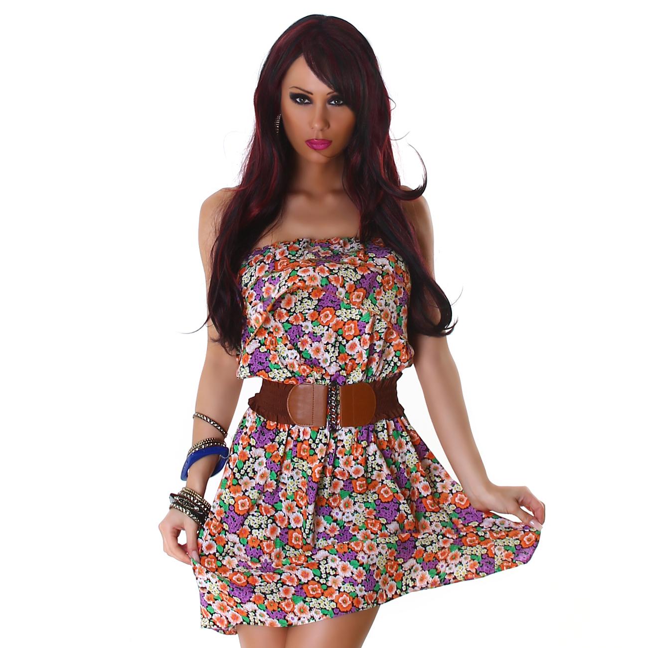 f2a65288543 Dámské letní květinové šaty
