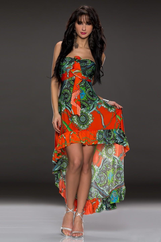 b34f19aaee8 Dlouhé letní šaty s volánkem