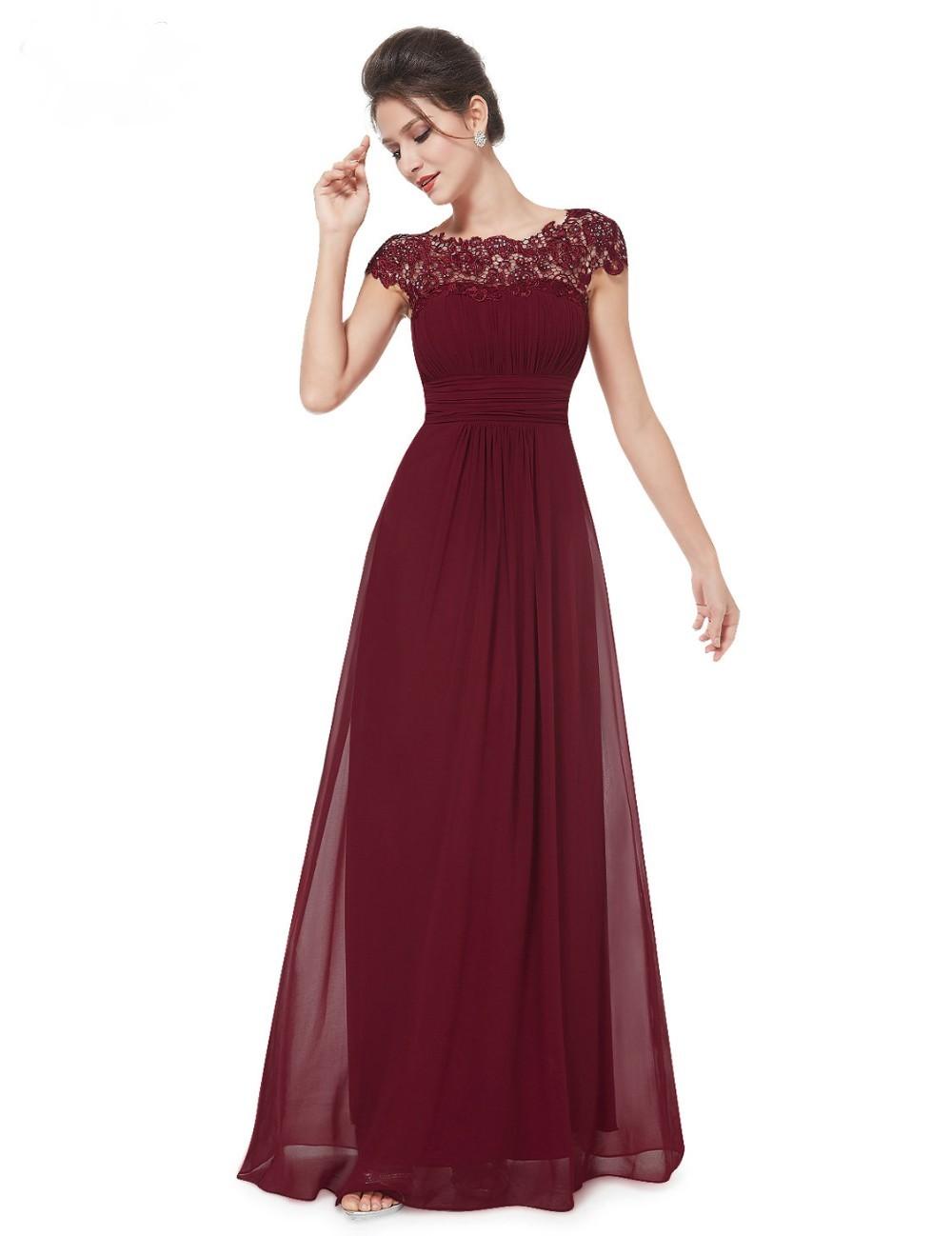 4fa489d128b Ever Pretty plesové a společenské šaty s krajkou 94EV bordó