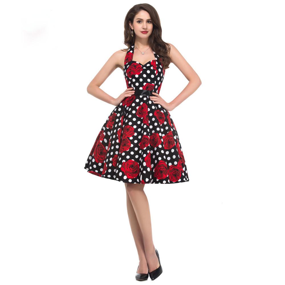 f2c853ab9285 Dámské šaty RETRO Styl S Růžemi ...