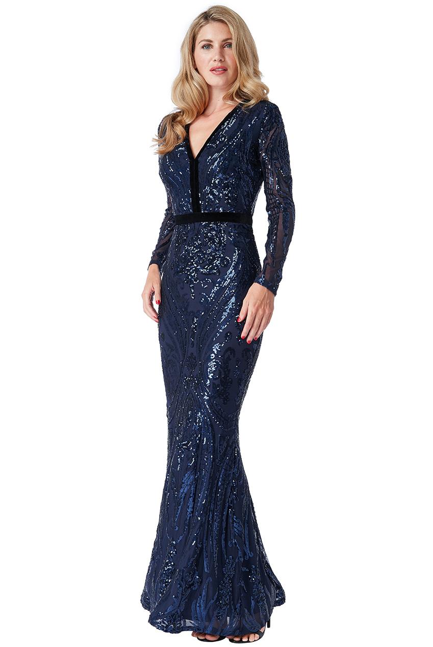 2387e598545 Luxusní večerní šaty MIKKA s flitry