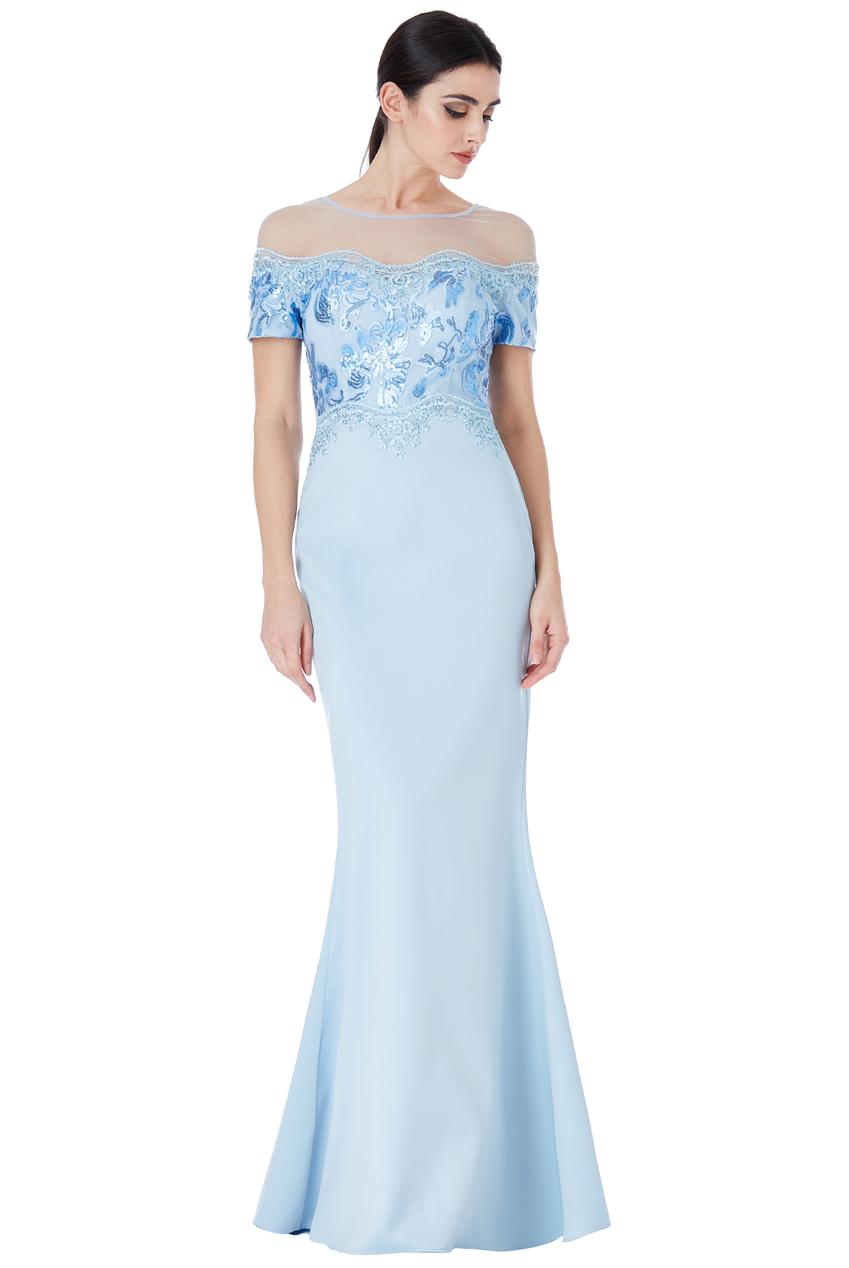 Společenské dlouhé šaty s flitry modré af13248a6b
