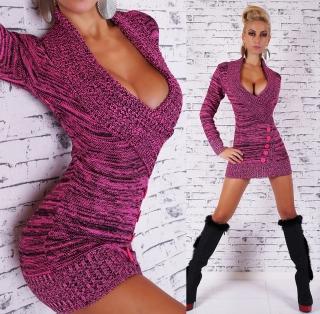c015f14e2c7 Dámský luxusní dlouhý svetr růžová empty