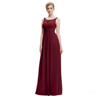 Společenské dlouhé šaty s korálky ... 9d6fe9d331