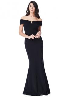 53c963c697e6 Společenské šaty s ozdobou černá ...